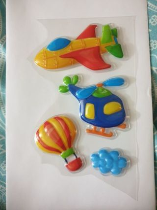 Puffy airplane stickers #3