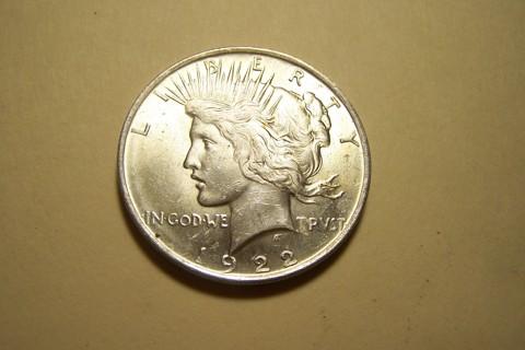 WOW! GEM BU Silver 1922 Peace Dollar