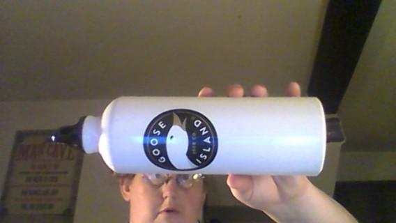 goose island beer co metal water bottle
