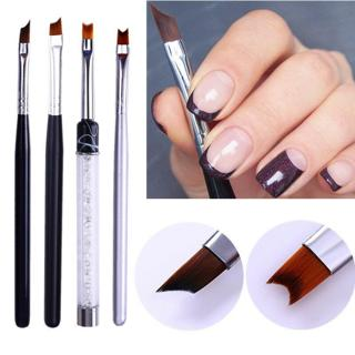 French Tip Manicure Nail Brush Half Moon Shape Acrylic Painting Drawing Pen Tool