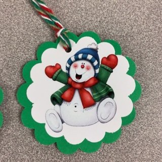 4 Snowman Layered Christmas Tags