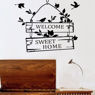 Welcome Sweet Home Quote Word Art Removable Vinyl Mural Wall Sticker Room Decal