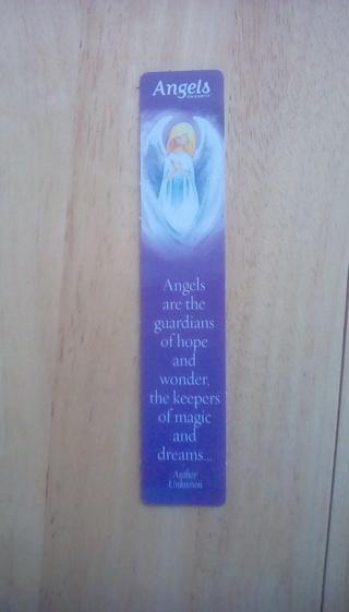 Plastic angel bookmark