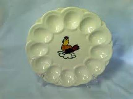 Rooster Egg Plate