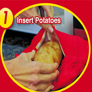 1PC Potato Express Microwave Cooker Bag 4 Minutes Beauty Fast Reusable Washable