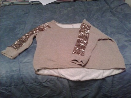 brown shirt with sparkles