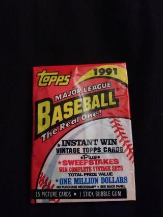 1991 Topps BaseBall Cards UnOpened...