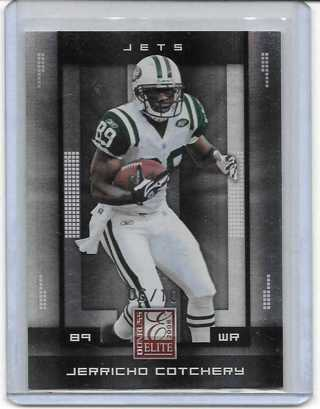 Jerricho Cotchery 2008 Elite 10th Anniversary #68 /10