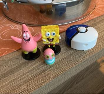 Spongebob + Pokemon Toys / Figurine Lot