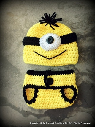 Free Minion Hat And Diaper Cover Pattern Girls Clothing Listia