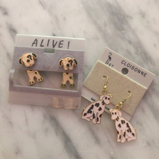 Puppy Dog Lovers Earrings Dalmatians CUTE