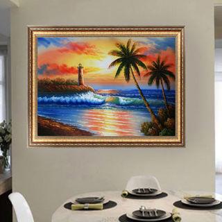 DIY 5D Diamond Painting Sunset Seaside Embroidery Cross Stitch Crafts Home Decor