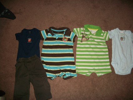 LOT OF BABY BOY CLOTHES - SIZE 12 MONTHS