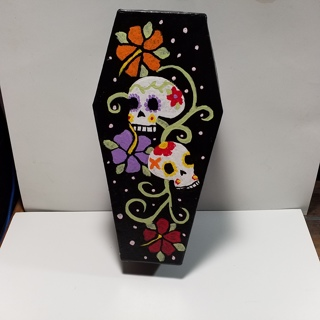 Sugarskull Coffin Nesting Boxes, Hand painted