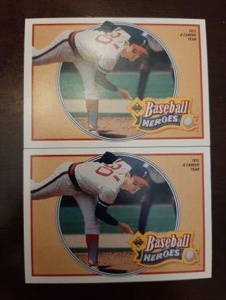 (2) 1990 Upper Deck Heroes Nolan Ryan #11