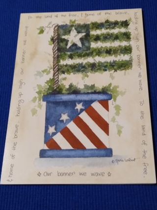 Notecards - FLAG TOPIARY