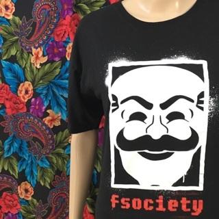 MEN'S Mr. Robot Shirt TV Memorabilia Hacker SciFi Loot Crate FREE SHIPPING