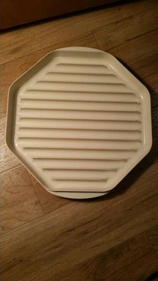 Microwave bacon pan