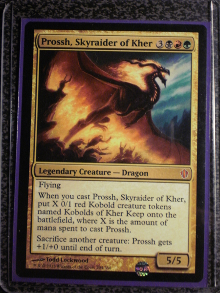 Free Mtg Rare Quot Prossh Skyraider Of Kher Quot Black Red Green