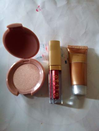 STILA Magnificent Metals Liquid Eyeshadow + IBY Highlighter + ANEW by AVON  Face Serum (GIN BONUS)