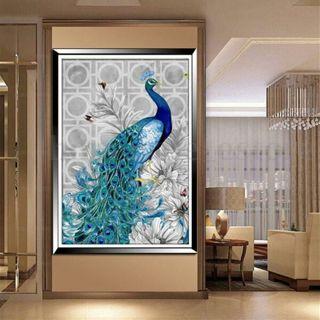 5D Diamond Embroidery Painting DIY Blue Peacock Mosaic Stitch Craft Home Decor
