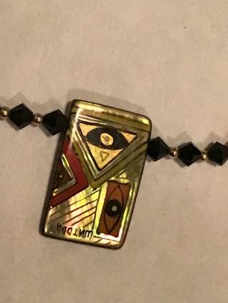 14 kt GF Art ,necklace & earrings