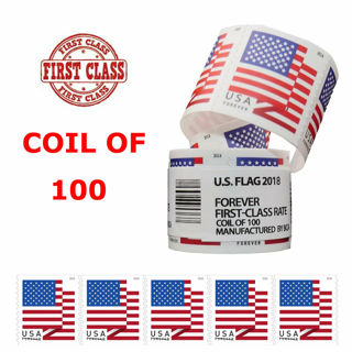 100 USPS Flag Forever Stamps Roll FREE SHIPPING! Postage value= $55