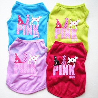 Summer Clothes Small Dog Cat Pet Vest Puppy Cotton T-Shirts Hot Pink