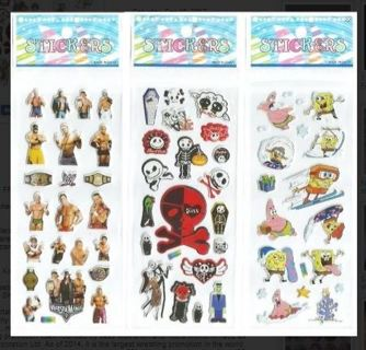 1 LOT W Spongebob Nightmare Before Xmas Variety Pack NEW Puffy JAPANESE BUBBLE Stickers Vibrant