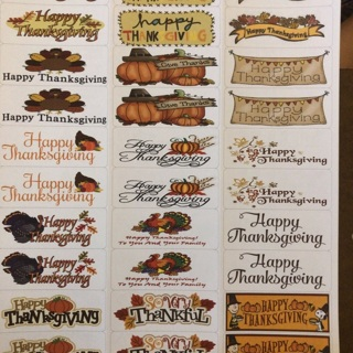 Happy Thanksgiving Labels
