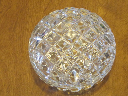 Quilted Crystal Covered Bowl Lg Trinket dish