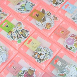 1 Bag Cute Cartoon Korean Style Decorative Stickers Adhesive Stickers Scrapbooking DIY Decoration