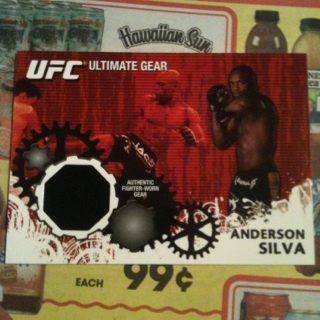 Anderson Silva Authentic Fighter Worn Relic Card Topps 2010 UFC CHAMPION