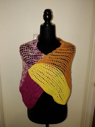 New Handknit Superwash Merino Wool Shawl