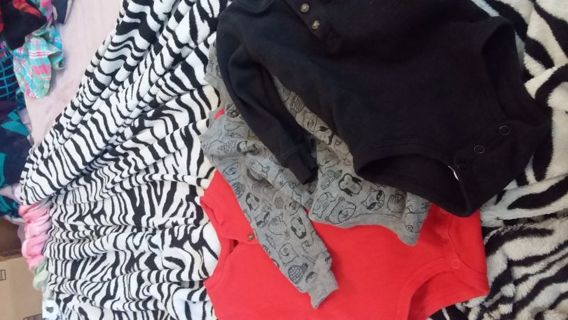 3 Baby boy ling sleeve onesie size 12m