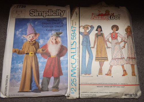 Free: 2 Vintage Costume Patterns(Dopey, Grumpy, Annie Too