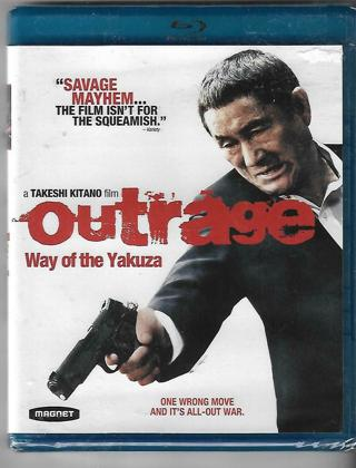 2012 OUTRAGE Blu Ray Movie Disc-Rated R-New & Sealed-1 Wrong Move is All Out War!