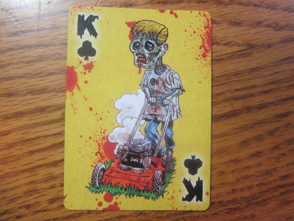 zomie yard work card magnet