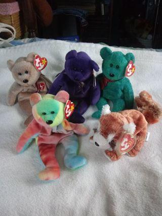 Beanie Babie Bears