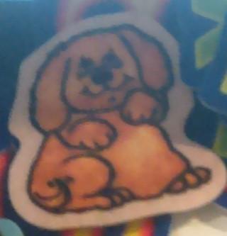 2 Cute Felt Decoration Patches Dog