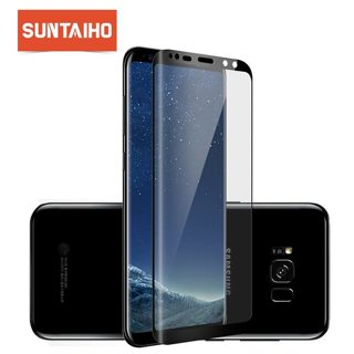 Suntaiho 3D Curved Round Tempred Glass For Samsung Galaxy Note 10 S9 S9 plus Full Coverage Screen