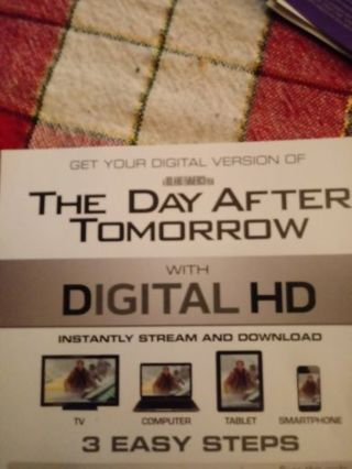 The Day After Tomorrow VUDU Code
