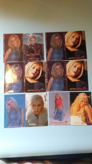 LOT OF 12 VINTAGE CHRISTINA AGUILERA STICKERS