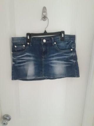 Women denim mini high skirt (30)