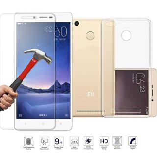 """For 5.0"""" Xiaomi Redmi 3 Pro 3s Tempered Glass Screen Protector+TPU Case Hotsell"""