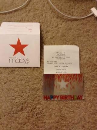 Free 200 Macys Giftcard LOW GIN