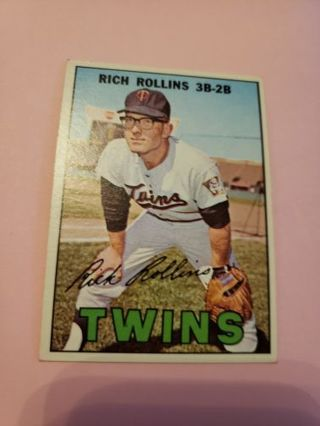 1967 Rich Rollins Minnesota twins vintage baseball card