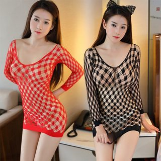 Fishnet Sexy Underwear Plus Size Sexy Lingerie Hot Transparent Baby Dolls Exotic Dress Erotic