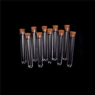 20Pcs/Lot Plastic Test Tube With Cork Vial Sample Container Bottle
