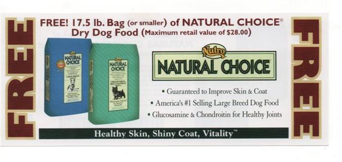 Nutro Natural Choice Coupons. Natural Choice dog food is made by a company named Nutro Products. Nutro Products was founded by a man named John Saleen, who purchased a dog food company from a businessman from Britain. After the initial purchase in , Nutro Products expanded throughout the next several years.
